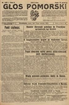 Głos Pomorski. 1925, nr210