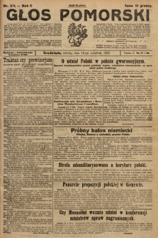 Głos Pomorski. 1925, nr211