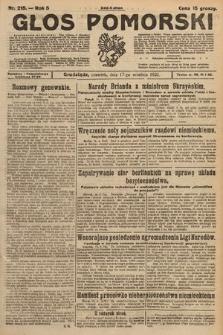 Głos Pomorski. 1925, nr215