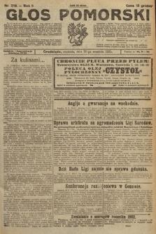 Głos Pomorski. 1925, nr218
