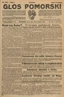 Głos Pomorski. 1925, nr220