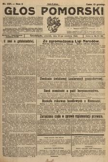 Głos Pomorski. 1925, nr221