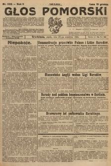 Głos Pomorski. 1925, nr222