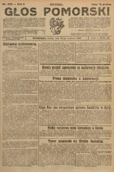 Głos Pomorski. 1925, nr223
