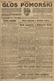 Głos Pomorski. 1925, nr229
