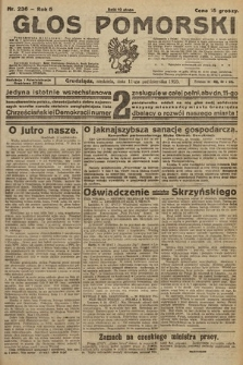 Głos Pomorski. 1925, nr236