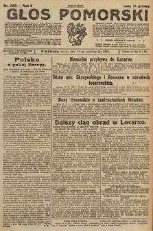 Głos Pomorski. 1925, nr238