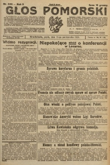 Głos Pomorski. 1925, nr240