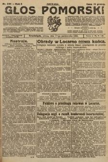 Głos Pomorski. 1925, nr241
