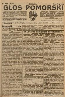 Głos Pomorski. 1925, nr242