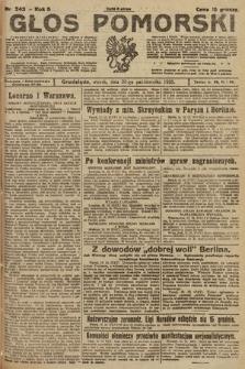 Głos Pomorski. 1925, nr243