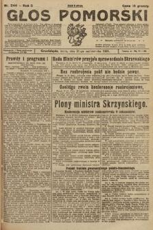 Głos Pomorski. 1925, nr244