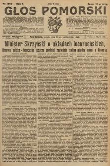 Głos Pomorski. 1925, nr246