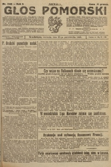 Głos Pomorski. 1925, nr248