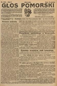 Głos Pomorski. 1925, nr249