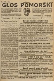 Głos Pomorski. 1925, nr257