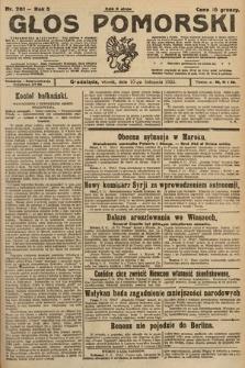 Głos Pomorski. 1925, nr261