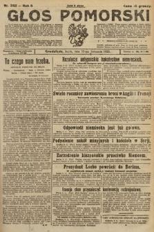 Głos Pomorski. 1925, nr262