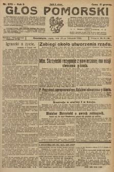 Głos Pomorski. 1925, nr270