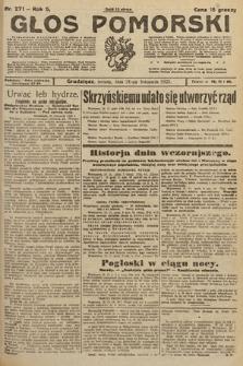 Głos Pomorski. 1925, nr271