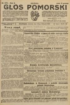 Głos Pomorski. 1925, nr272