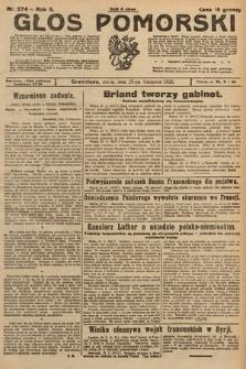 Głos Pomorski. 1925, nr274