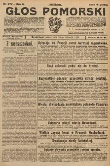 Głos Pomorski. 1925, nr277