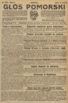 Głos Pomorski. 1925, nr278