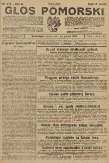 Głos Pomorski. 1925, nr279