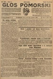 Głos Pomorski. 1925, nr280