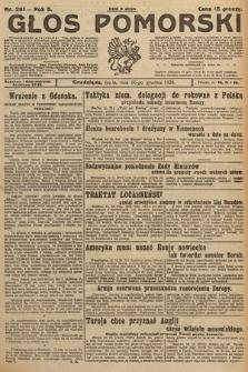 Głos Pomorski. 1925, nr291