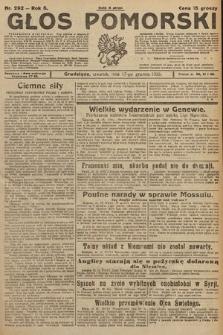 Głos Pomorski. 1925, nr292