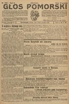 Głos Pomorski. 1925, nr294