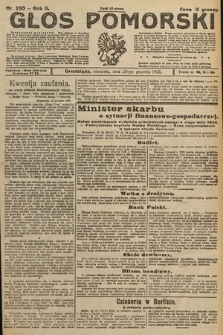Głos Pomorski. 1925, nr295