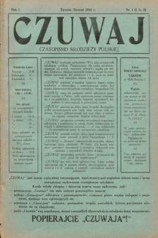 Czuwaj : czasopismo młodzieży polskiej. 1920, nr1