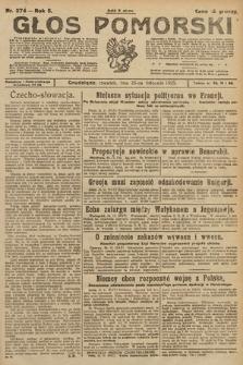 Głos Pomorski. 1925, nr275