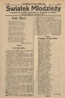 Światek Młodzieży : tygodnik dla młodzieży pomorskiej. 1925, nr21