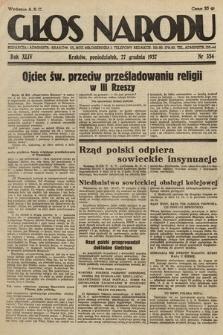 Głos Narodu. 1937, nr354