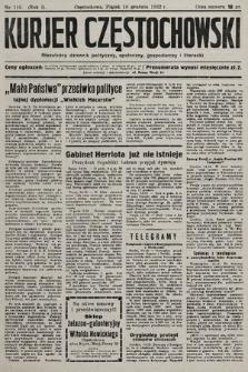 Kurjer Częstochowski : niezależny dziennik polityczny, społeczny, gospodarczy iliteracki. 1932, nr116
