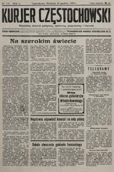 Kurjer Częstochowski : niezależny dziennik polityczny, społeczny, gospodarczy iliteracki. 1932, nr118