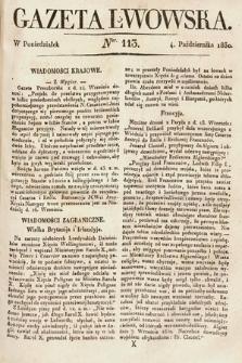 Gazeta Lwowska. 1830, nr113