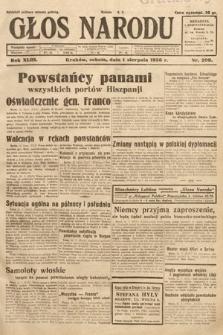 Głos Narodu. 1936, nr209