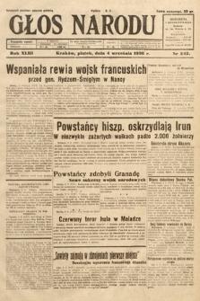 Głos Narodu. 1936, nr242