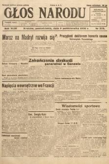 Głos Narodu. 1936, nr273