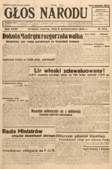 Głos Narodu. 1936, nr274