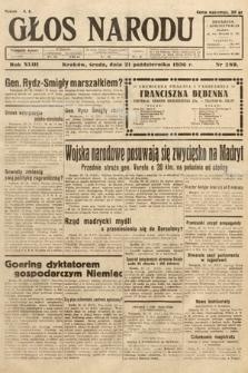 Głos Narodu. 1936, nr289