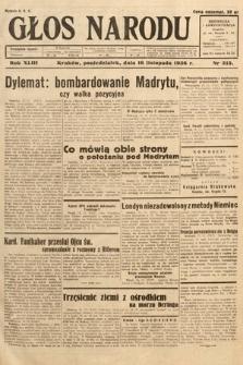 Głos Narodu. 1936, nr315