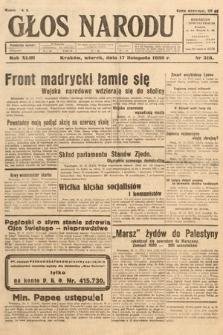 Głos Narodu. 1936, nr316