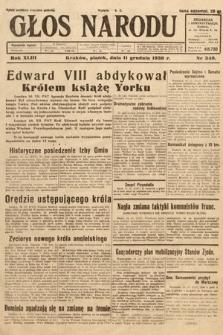Głos Narodu. 1936, nr340