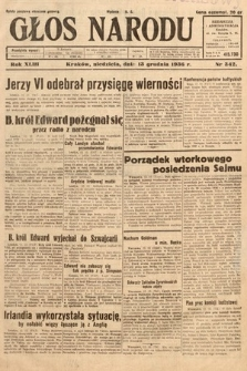 Głos Narodu. 1936, nr342